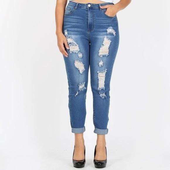ultrachicfashion.com Denim - ⬇ High Waist Distressed Jeans
